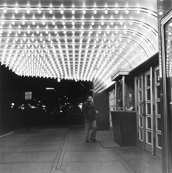Theater Marquee, Evening, Evanston, Illinois