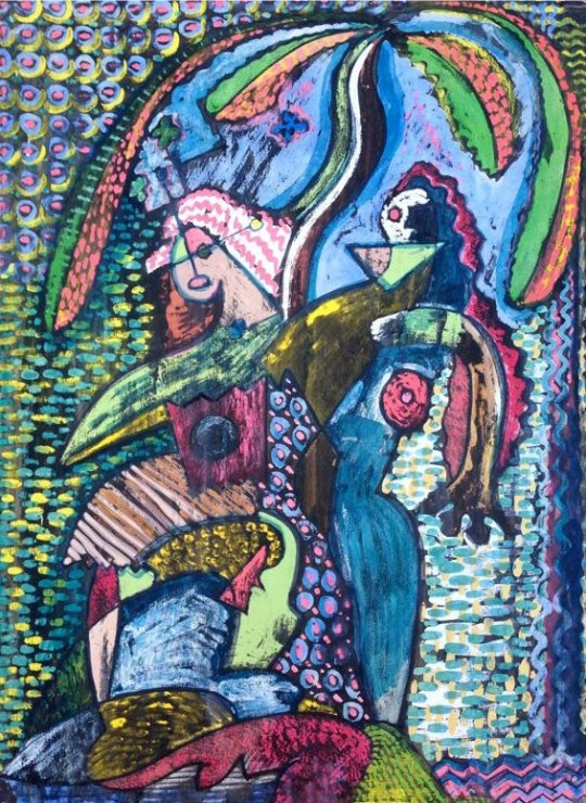 Untitled (Figures and biomorphic forms)