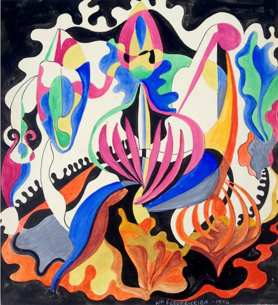 Untitled (Biomorphic composition)