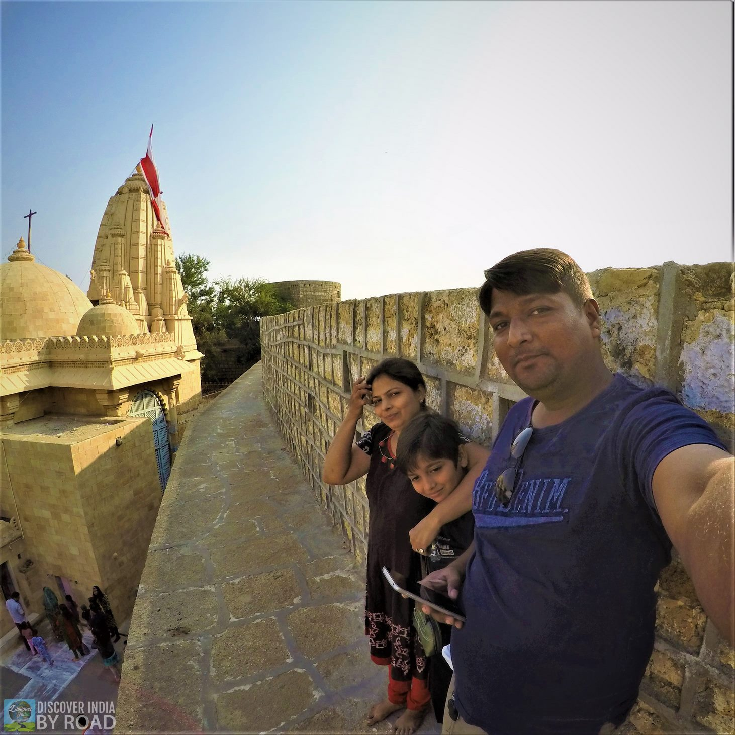 Family photo on wall of Narayan Sarovar