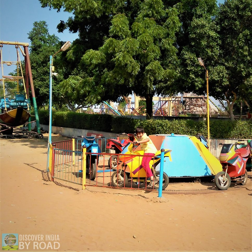 Kids in Bike Ride at hill garden bhuj