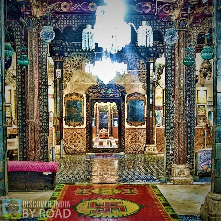 Mirror Hall of Aina Mahal bhuj