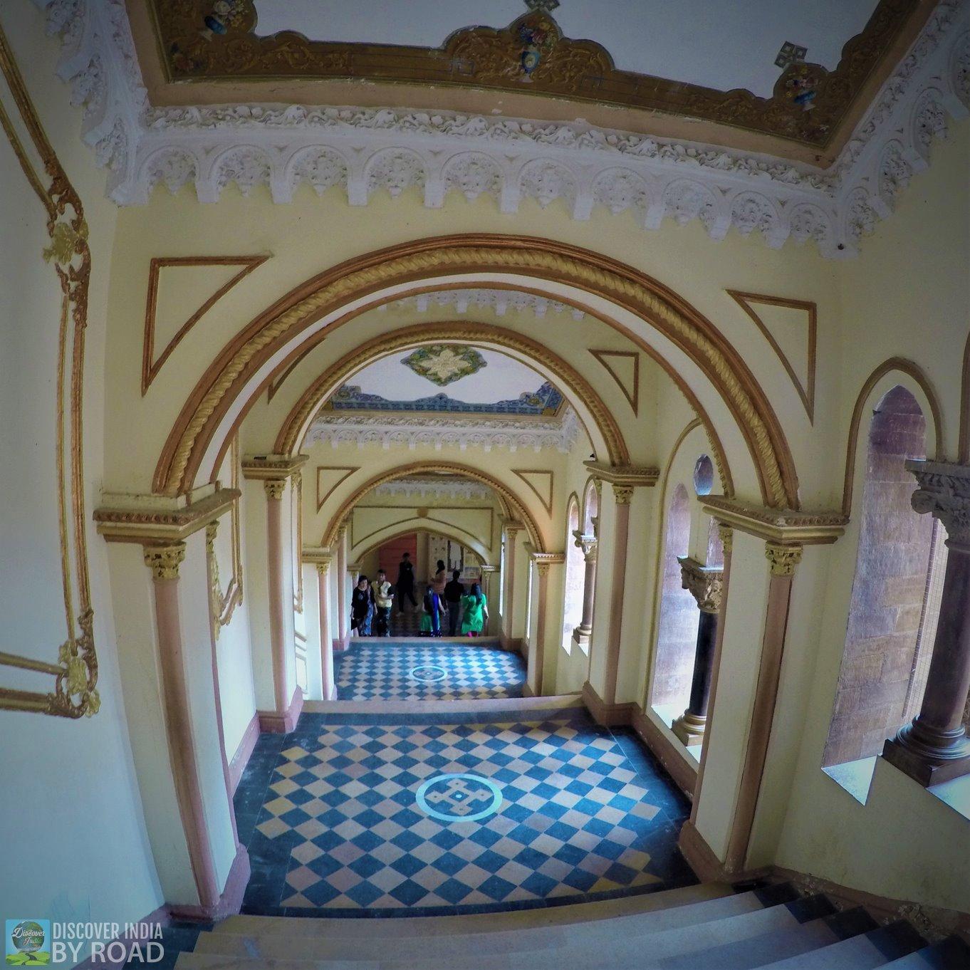 Staircase towards Prag Mahal Palace
