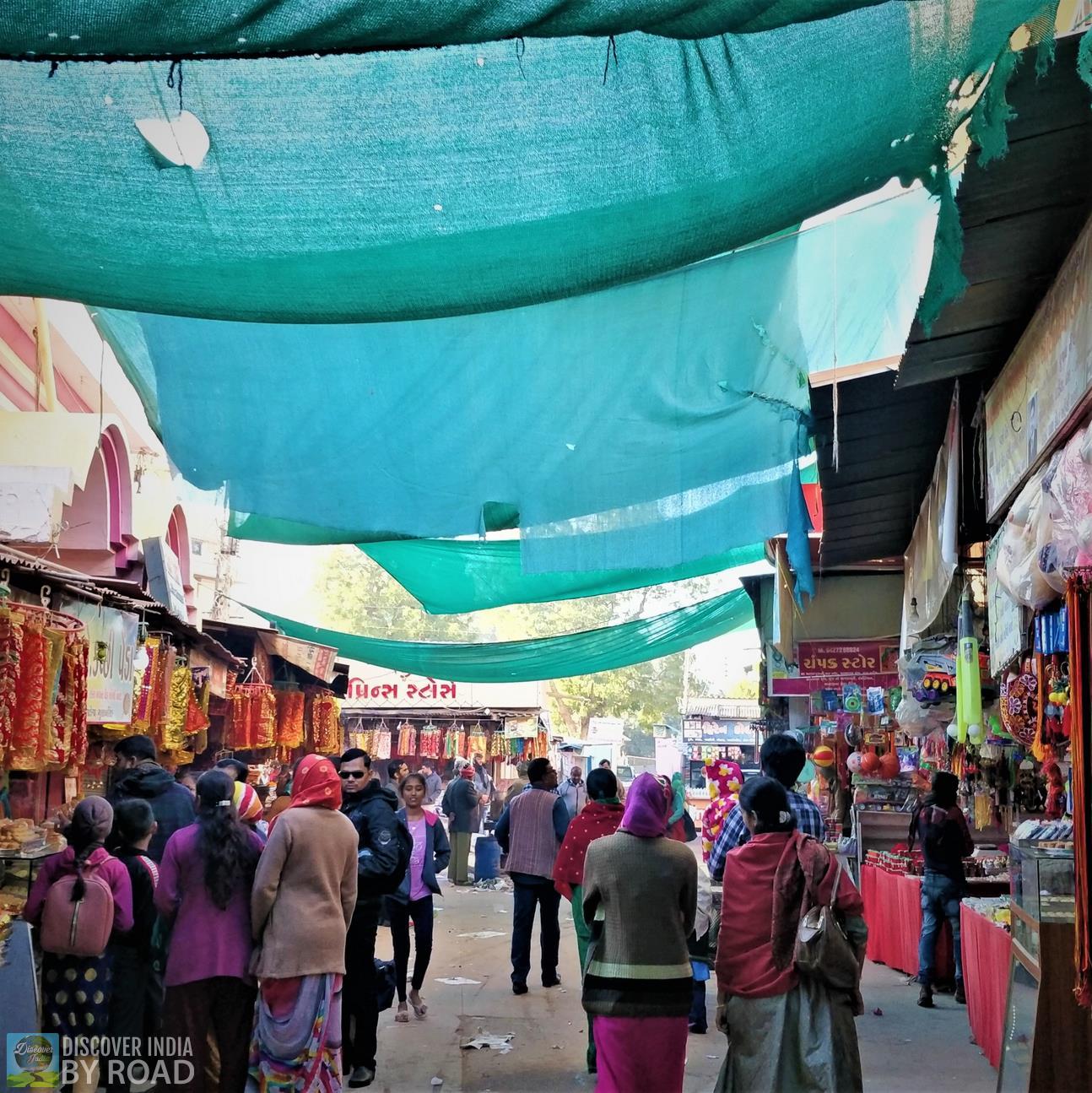 Narrow street going towards Mata na madh temple