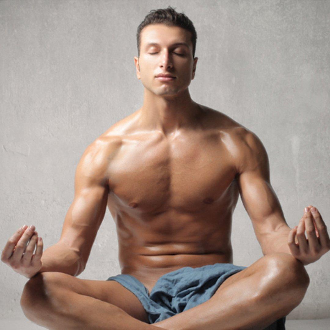 Man doing Yoga & Pranayam