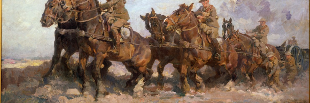 Horses were used a lot in the First World War to pull wagons, machinery and guns