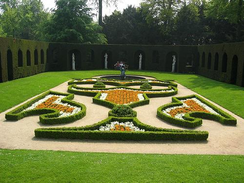Garden at Chateau de La Hulpe, Belgium