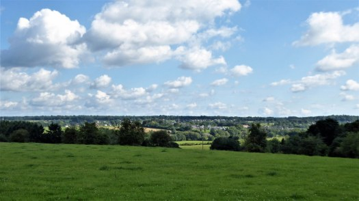 The view over the hills of the Ardennes near Chimay