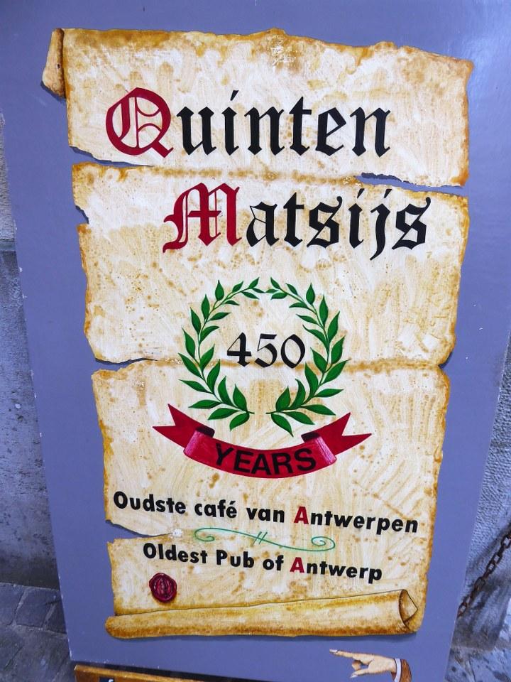 Quinten Matsijs oldest pub in Antwerp