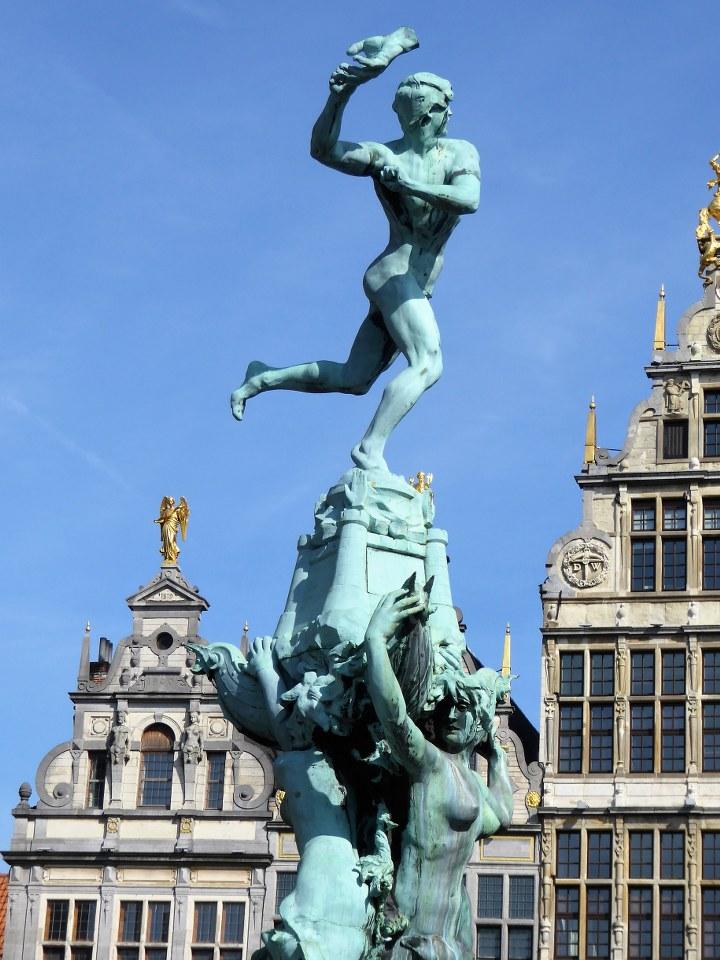 Brabo statue in Antwerp