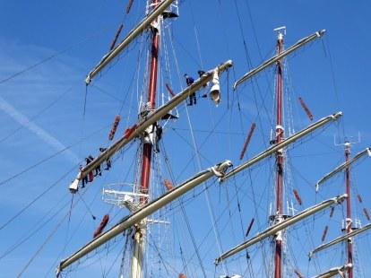 Ship in Antwerp city