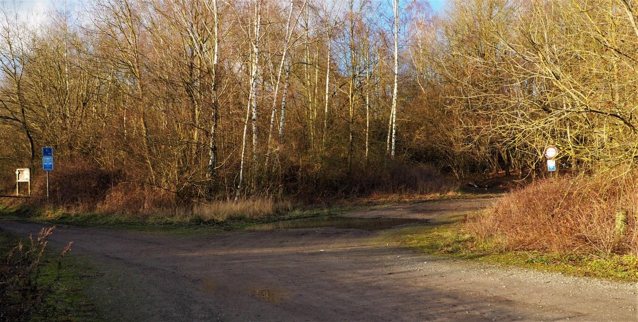 Sclaigneaux walk. Starting point in car park