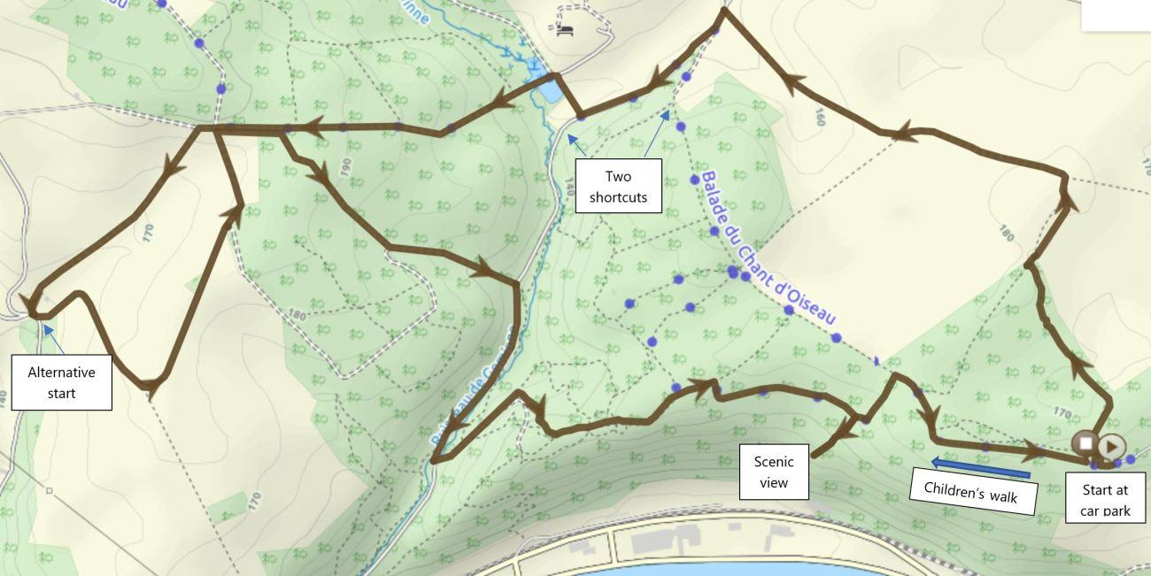 Sclaigneaux walking map