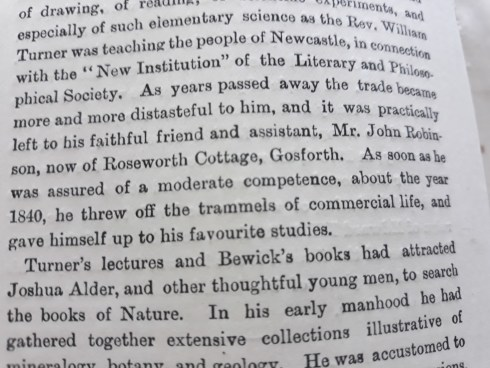 Text from North Country Lore and Legend. Profile on Joshua Alder showing Gosforth connection.