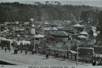Post card of the Hoppings at Jesmond Dene