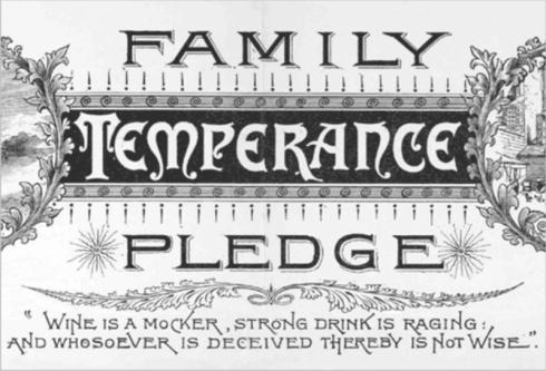 Family Temperance Pledge