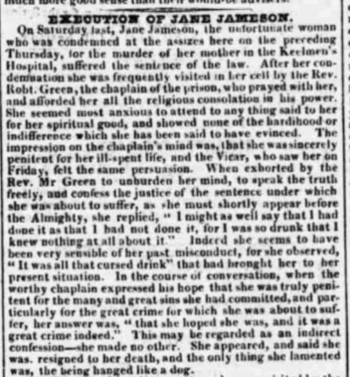 Town Moor Execution newspaper exerpt