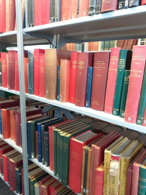 Rows of book house historians use for research