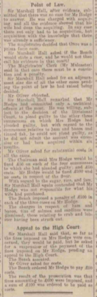 Newcastle Daily Journal Food Hoarding Excerpt 1918 Coxlodge Hall Gosforth