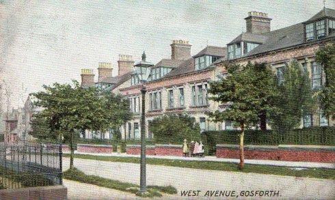 Gosforth Heritage Postcard of West Avenue