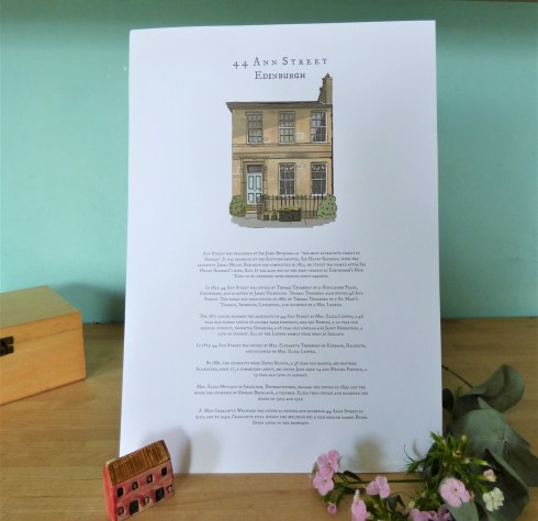 My Scottish Townhouse Story Portrait a3 poster ©Discovering Heritage