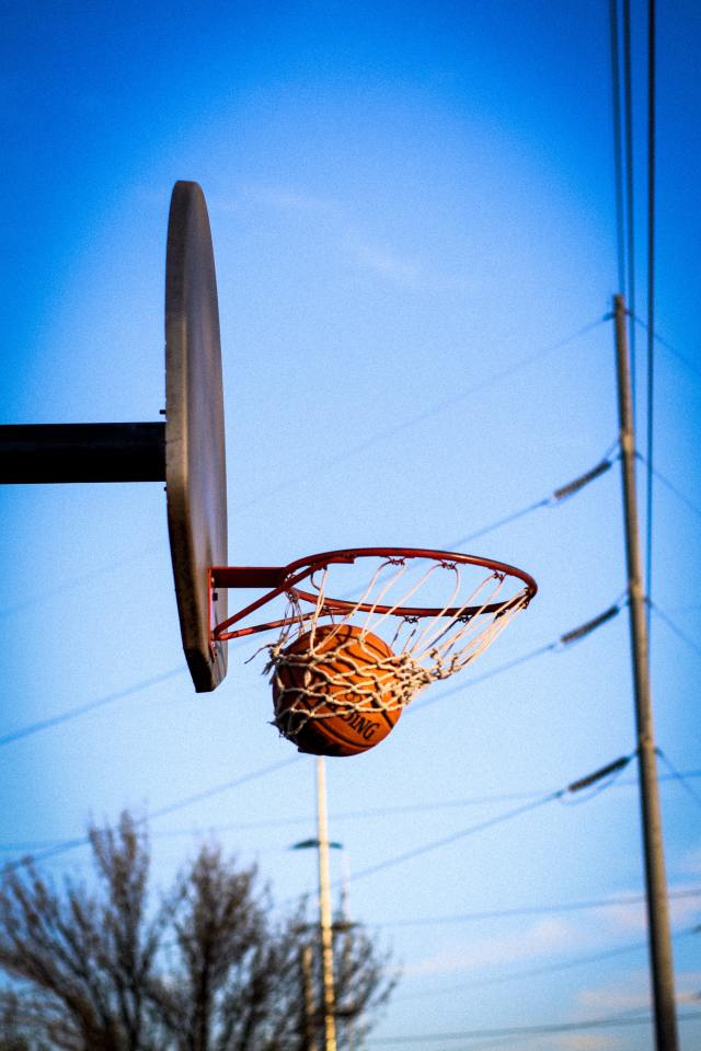 Reduce sibling rivalry by playing a team sport such as basketball