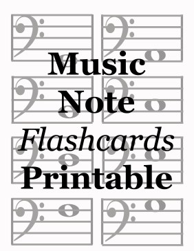 music note flashcards printable file