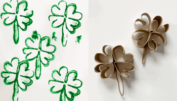 Shamrock Stamps Easy St. Patrick's Day Crafts for Kids