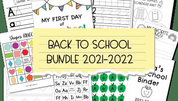 Back to School Preschool Bundle Preview