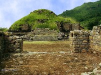 Bhamala Stupa, Taxila. This secluded Buddhist site, dating to the 4th century CE, has a distinctive archaeological feature: its main stupa is built upon a cruciform base as opposed to the circular stupas found in other Gandhara sites.