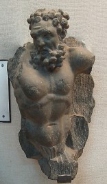 Sculpture of a Greek Atlas or Atlant, Lahore Museum. In classical European architecture, an Atlant is a support sculpted in the form of a man, which may take the place of a column, a pier or a pilaster. Atlantes were common features of Gandharan art and architecture.