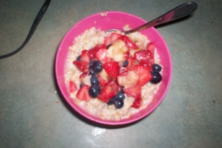 Duffy-oatmeal with fruit