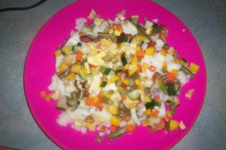 Duffy-veggies on rice