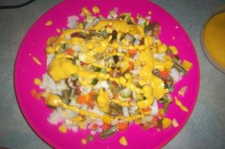 Duffy-veggies with cheese