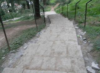 Slates laid on Manali-Hadimba pathway