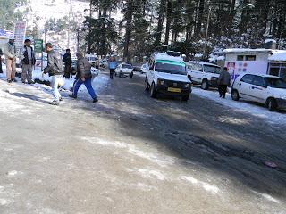 Vehicles on ice