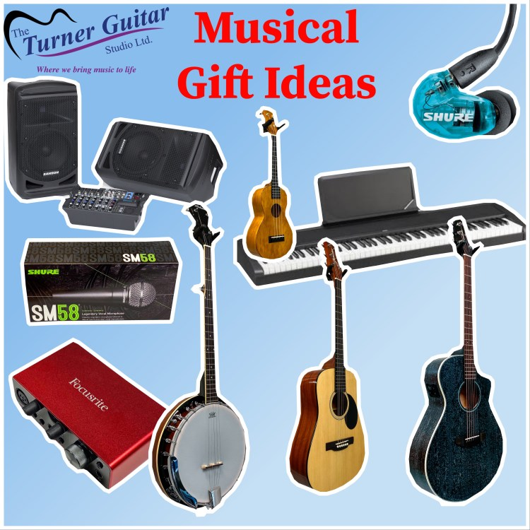 Various musical gift ideas available for sale at The Turner Guitar Studio in Leduc, AB