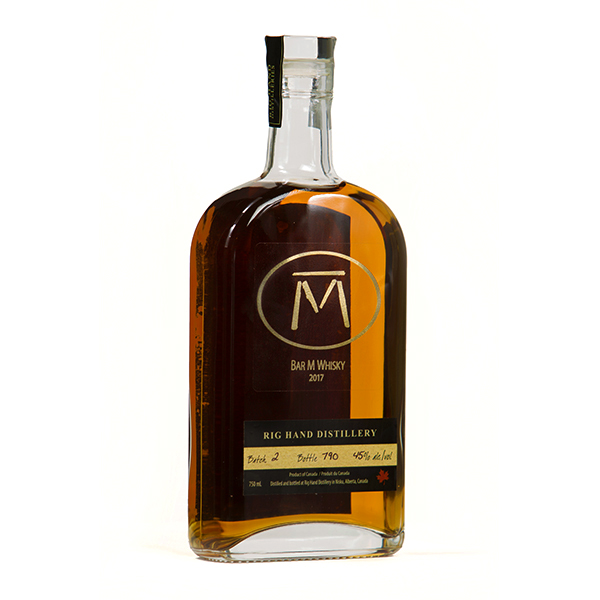Bar M Whisky available for sale at Rig Hand Craft Distillery in Nisku, AB