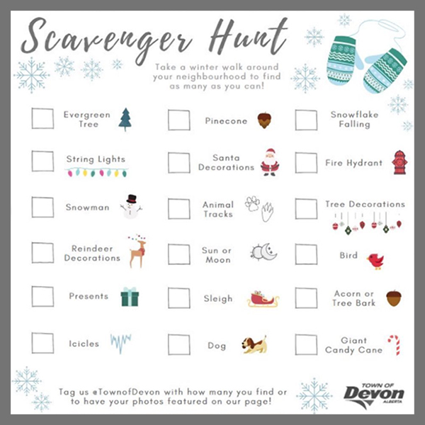 Winter Scavenger Hunt Graphic