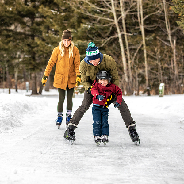 Winter skating fun. Photo Credits - Travel AB