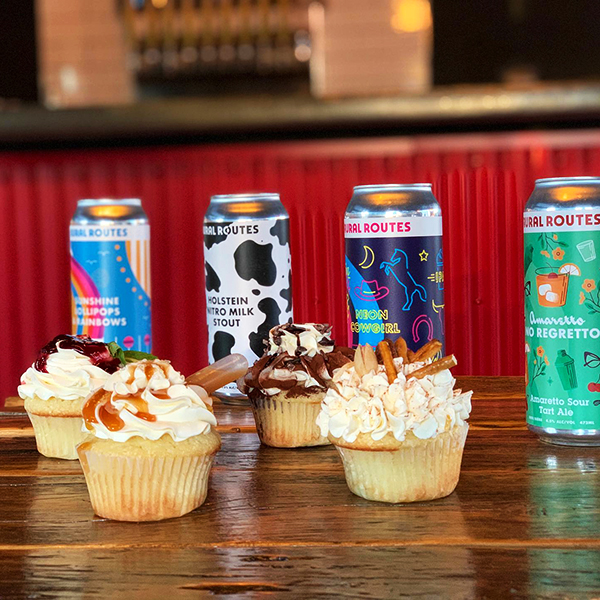 Cupcake & Beer Pairing - Rural Routes Brewing Co. & MoreFun! Gourmet Sweets