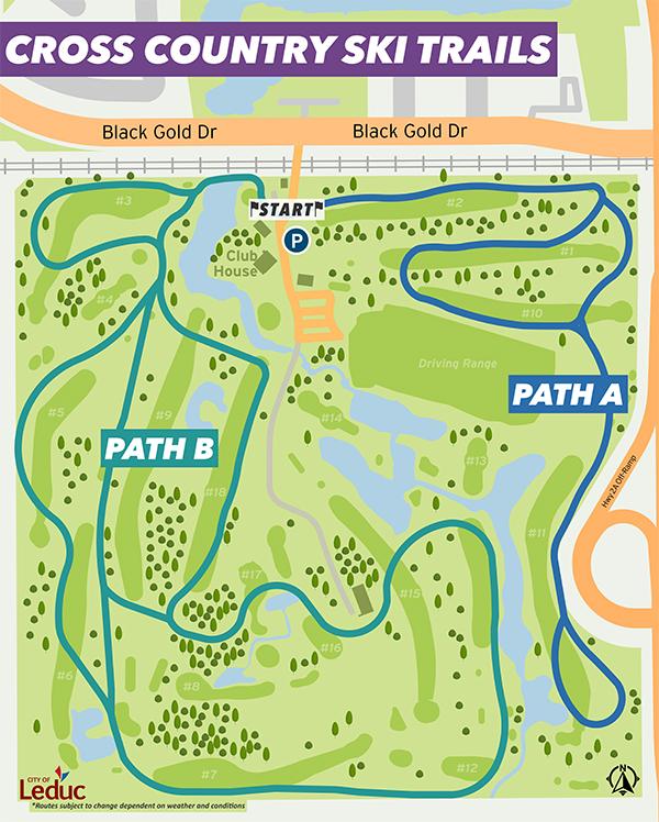 Cross-Country Ski Trail Map - Leduc Golf & Country Club
