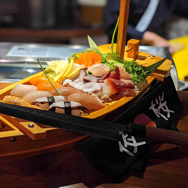 Sushi Boat Display - The Sushi Factory by YOZAKURA