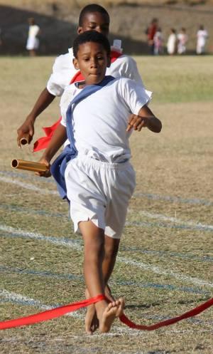 D'Shawn Allen of Blue House was the top boy for the St. Augustine School Sports 2015. (Spirit of Montserrat Photo)