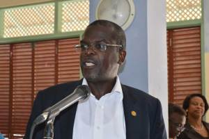 Hon. Minister of Agriculture, Lands, Trade, Housing & Environment Claude Hogam