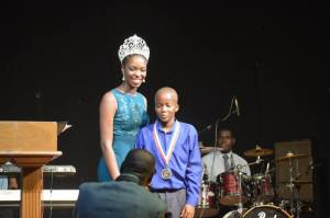 Noel Hickson won the Funky Man Award for being a top student at Brades Primary School.