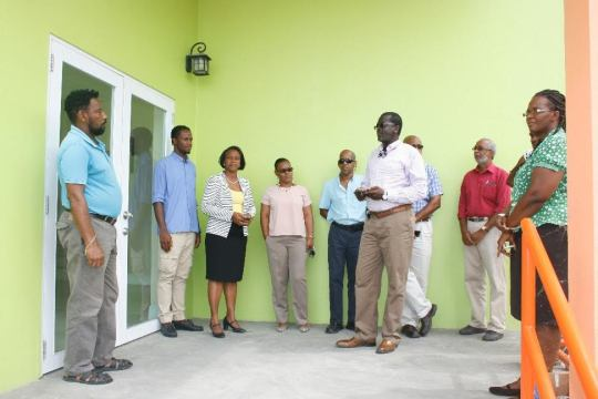 Lenjoy Construction completed the handover of the new Agriculture building in Brades to the Minister of Agriculture and his team on Friday, March 10, 2017