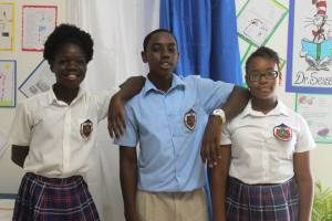 Three St Augustine Primary students made the top 10 for the 2017 CPEA. (Spirit of Montserrat Photo)