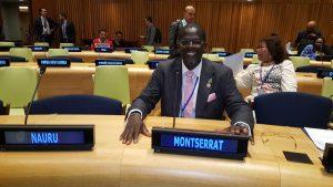 Hon. Minister Claude Hogan at the United Nations. (CHogan Photo)