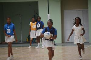 Day One match between Lookout Primary and St Augustine Primary.